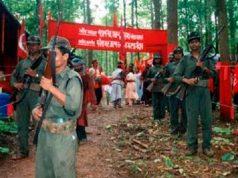 Guerrilla naxalita en una base de apoyo
