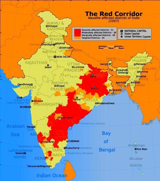 "Mapa del ""Corredor Rojo"""