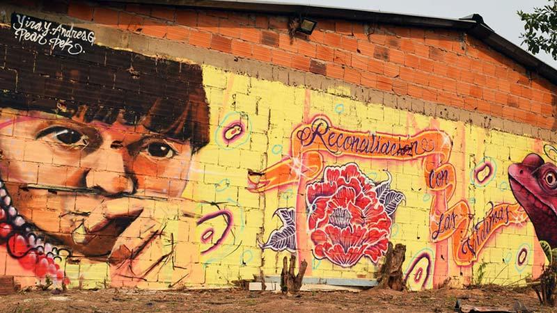 Mural en Colombia