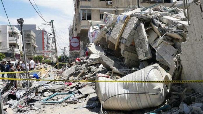 Vivienda palestina destruida