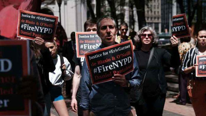 Manifestantes en Manhattan