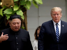 Kim Jong-un y Donald Trump en Hanói