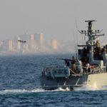 Buque militar israelí navega en el mar Mediterráneo.