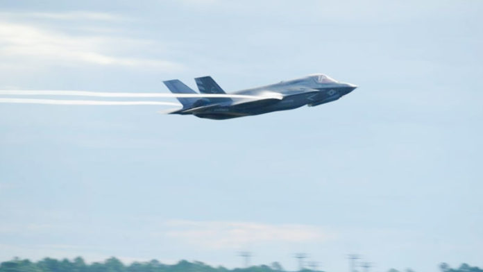 Un caza furtivo F-35