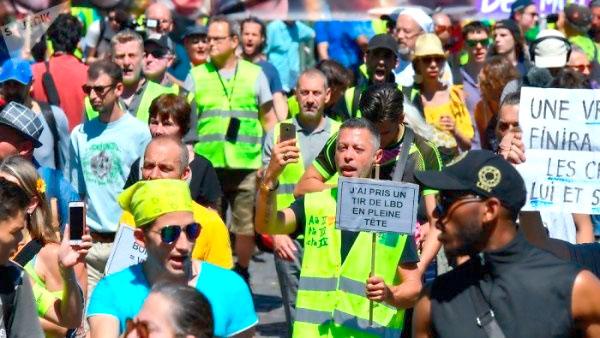 Chalecos amarillos toman las calles por 39 semana consecutiva