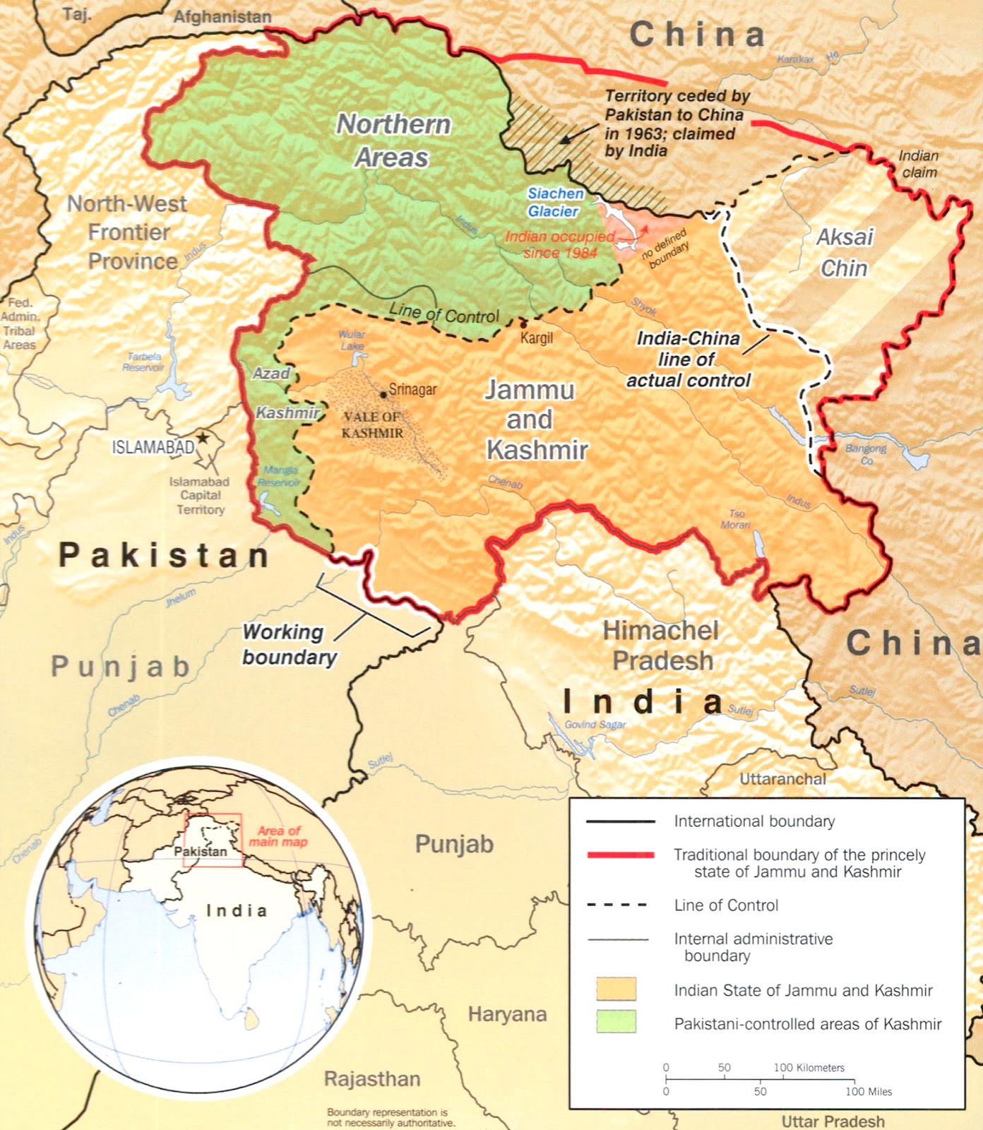 En Cachemira quienes se miran la cara son Estados Unidos y China (además de India y Pakistán).