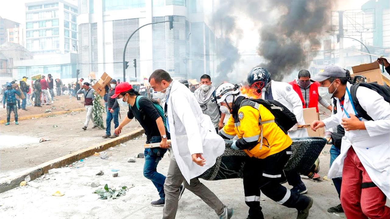 Balance de once días de protestas en Ecuador: 7 muertos, 1.340 heridos y 1.152 detenidos.