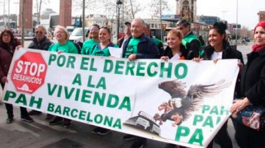 PAH Barcelona denuncia estrategia represiva del Gobierno de la Generalitat: Distancia, manos y Ley Mordaza y las sanciones impulsadas por su Departamento de Interior